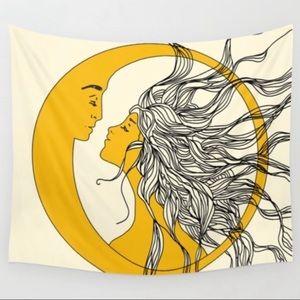 "Nadja Sun and Moon Tapestry 51""x60"""